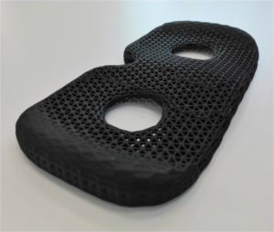 3D printed seat for Bertolasi's training scull. Photo via Elmec.