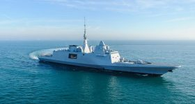 Navy Group FREMM Bretagne at sea. Photo via Navy Group.
