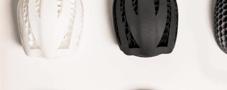 3D printed Hexo helmets. Photo via Hexo Helmet.