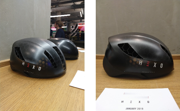 Different angles of the final Hexo Helmet design.