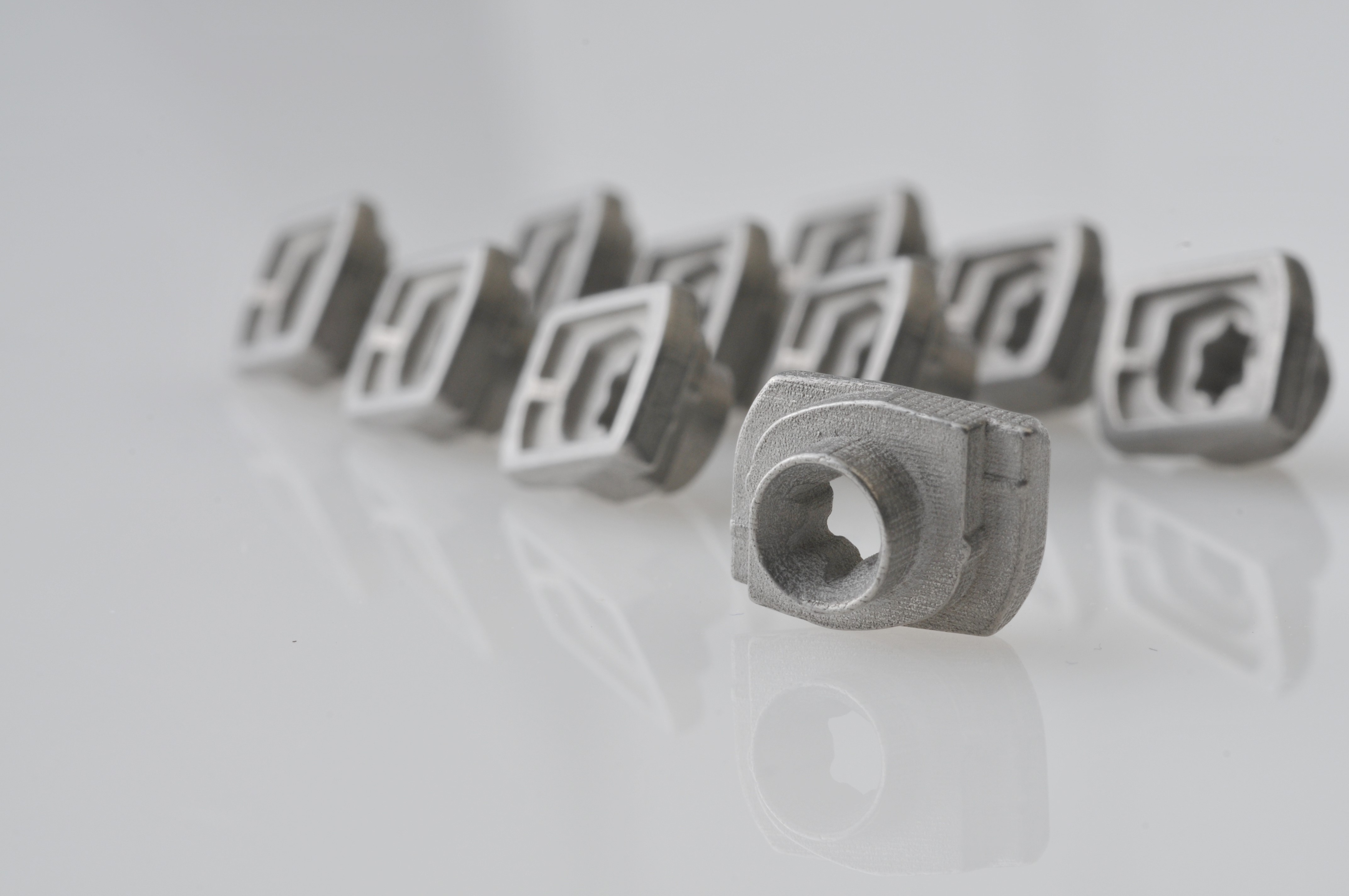 3D printed fasteners (316L) Photo via ExOne