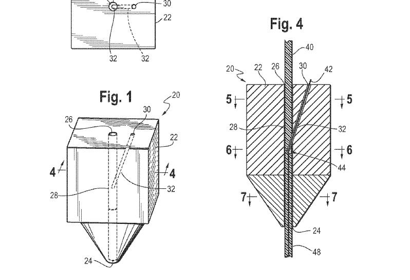 Northrop Grumman invented composite 3D printing nozzle. Image via US10173410