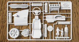 The assembly kit of Kia Sportage. Image via mobedia.