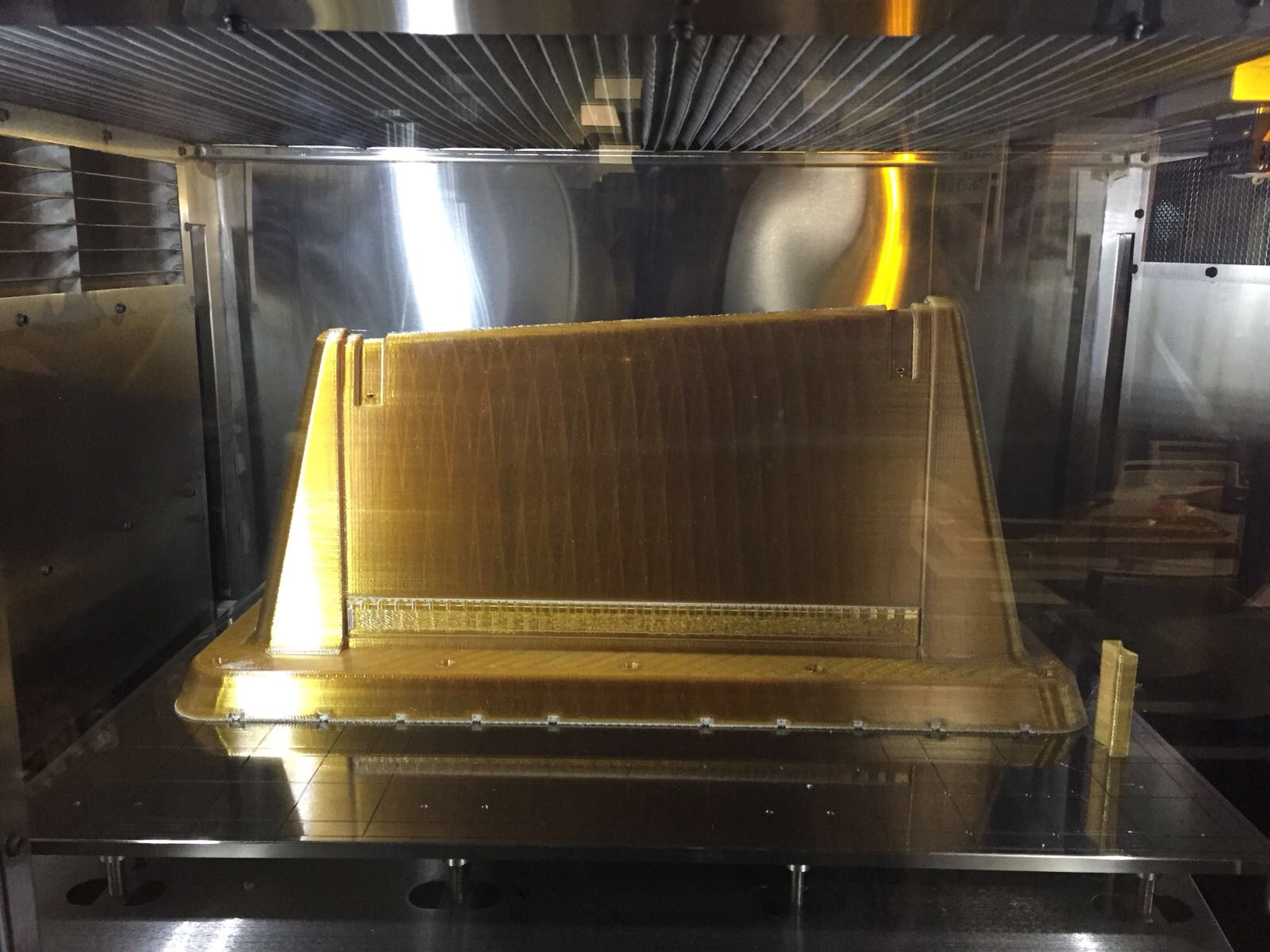 Preform tool produced with the Stratasys F900 Production System using ULTEM™ 1010 resin. Photo via Stratasys.