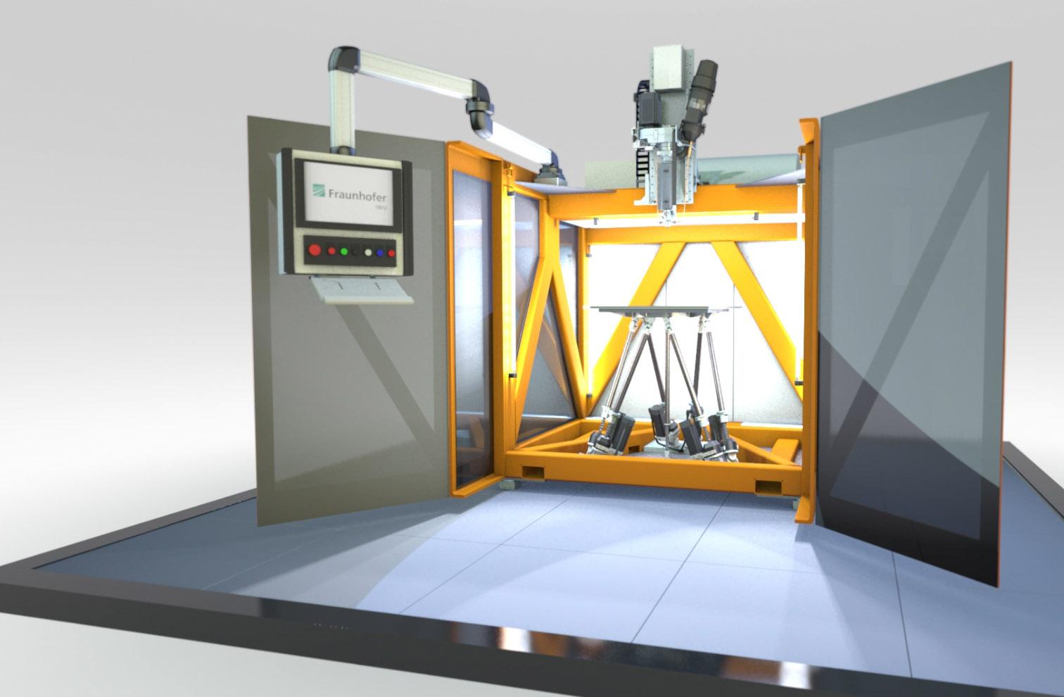 The SEAM 3D printer. Image via Fraunhofer IWU.