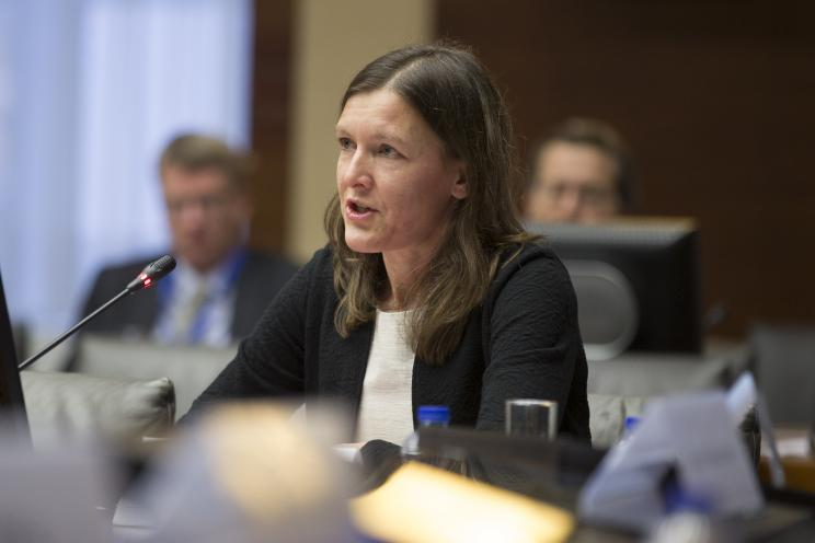 Sibylle Bauer, report co-author andDirector of the SIPRI Armament and Disarmament programme. Photo by Erik Luntang
