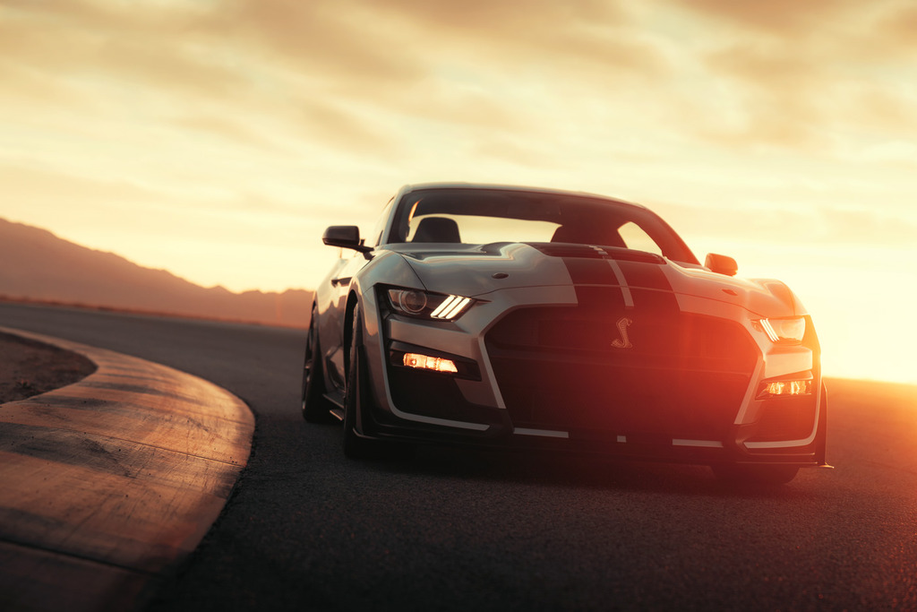 The exterior of the 2020 Mustang Shelby GT500. Photo via Ford.