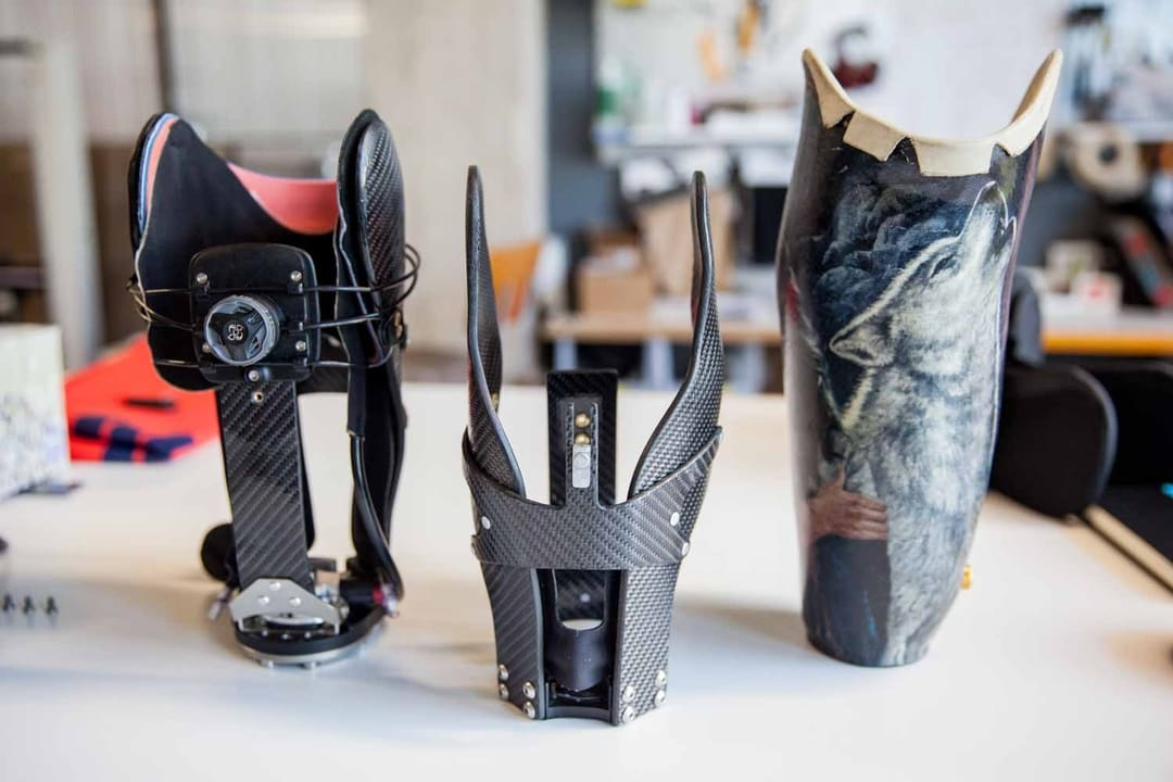 A prosthetic made for Lim Innovations with urethene casting method. Image via Fictiv