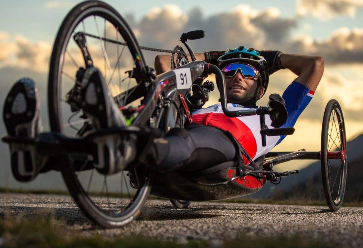 Tetraplegic athlete, Florian Jouanny. Photo via Laurent Salino/Zortrax.