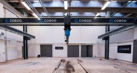 The BOD2 3D printer in testing facilities. Photo via COBOD.