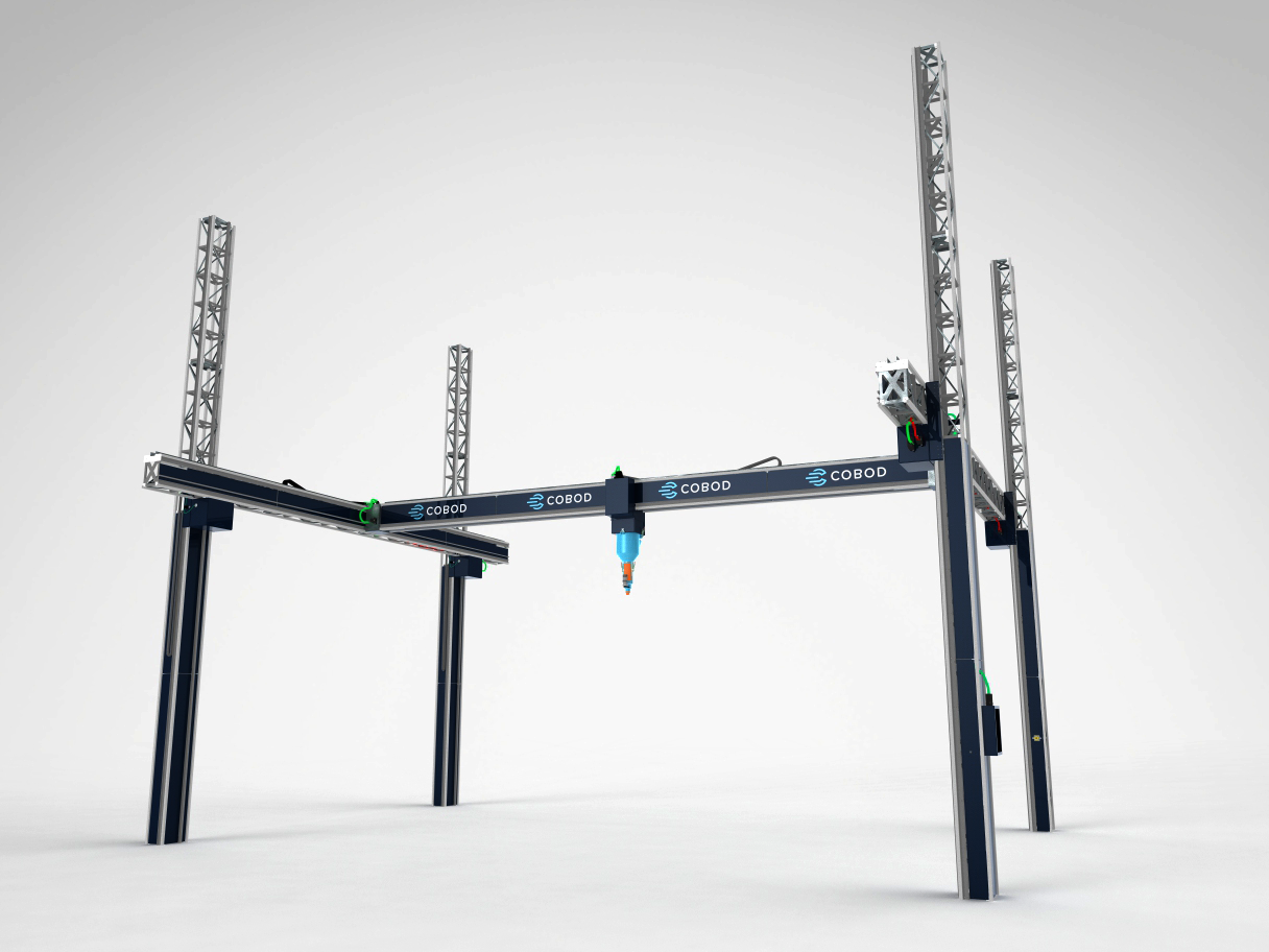 The BOD2 gantry-operated construction 3D printer. Image via COBOD International