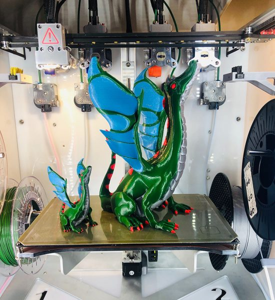 The Adalinda: The Singing Serpent modeled by 3D model maker Loubie and printed by René Jurack. Photo via E3D.