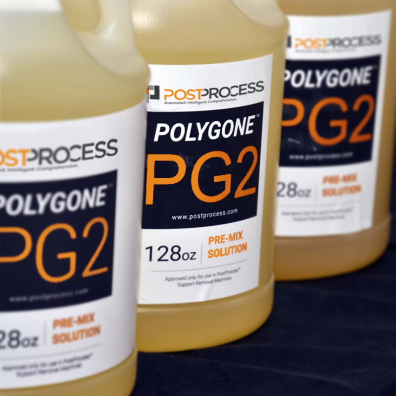 PostProcess' POLYGONE™ (PG) chemistry line. Photo via PostProcess Technologies.