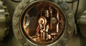 Inside view of the Medium Energy Ion Scattering accelerator at the University of Huddersfield. Image via University of Huddersfield.