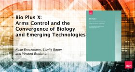 BIO PLUS X: Arms Control and the Convergence of Biology and Emerging Technologies report, published by SIPRI. Image via the Stockholm International Peace Research Institute