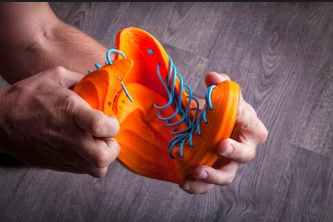 Sneakers 3D printed with Recreus' FilaFlex. Image via Recreus/Twitter.