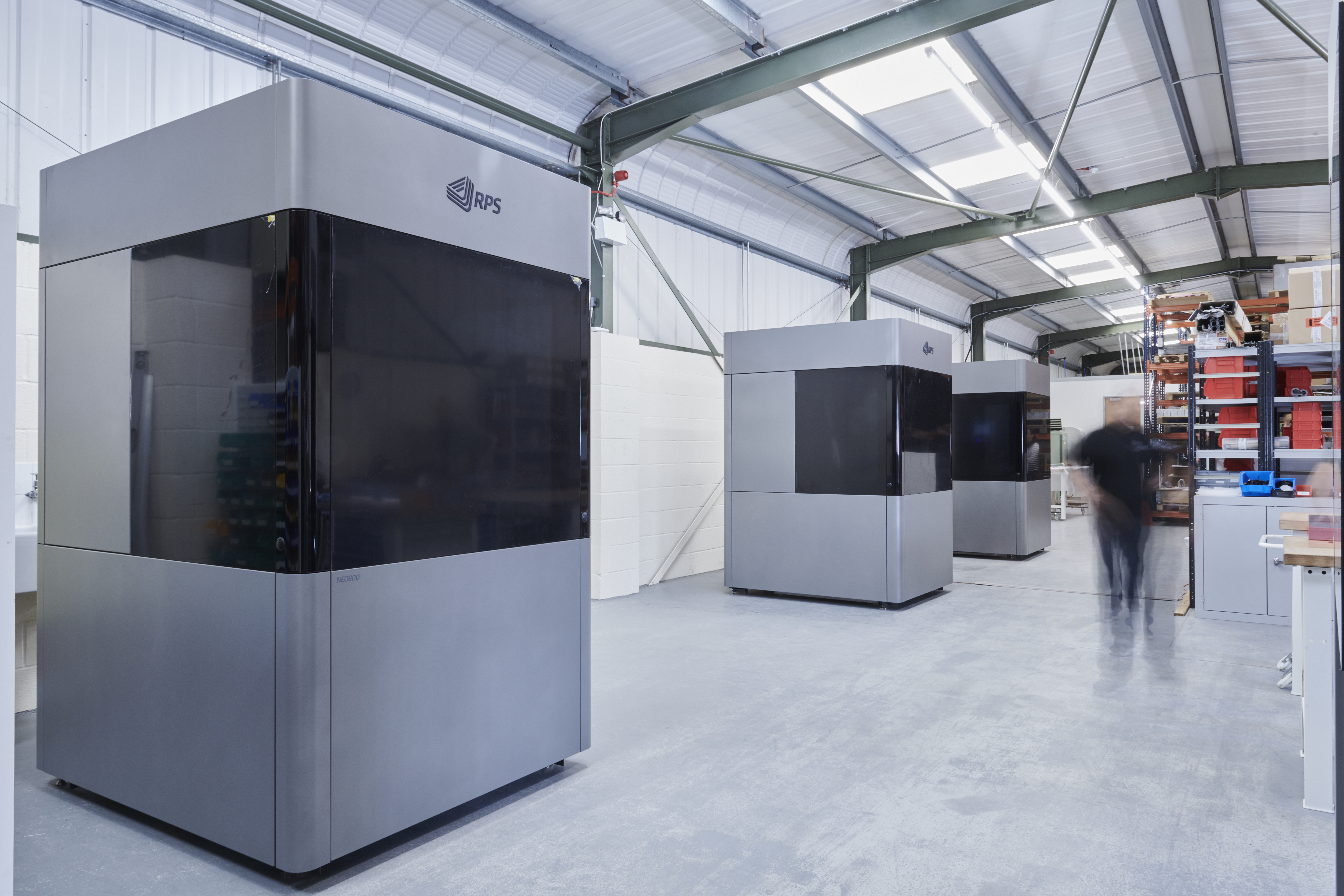 NEO800 large scale SL 3D printers at RPS in the UK. Photo via RPS