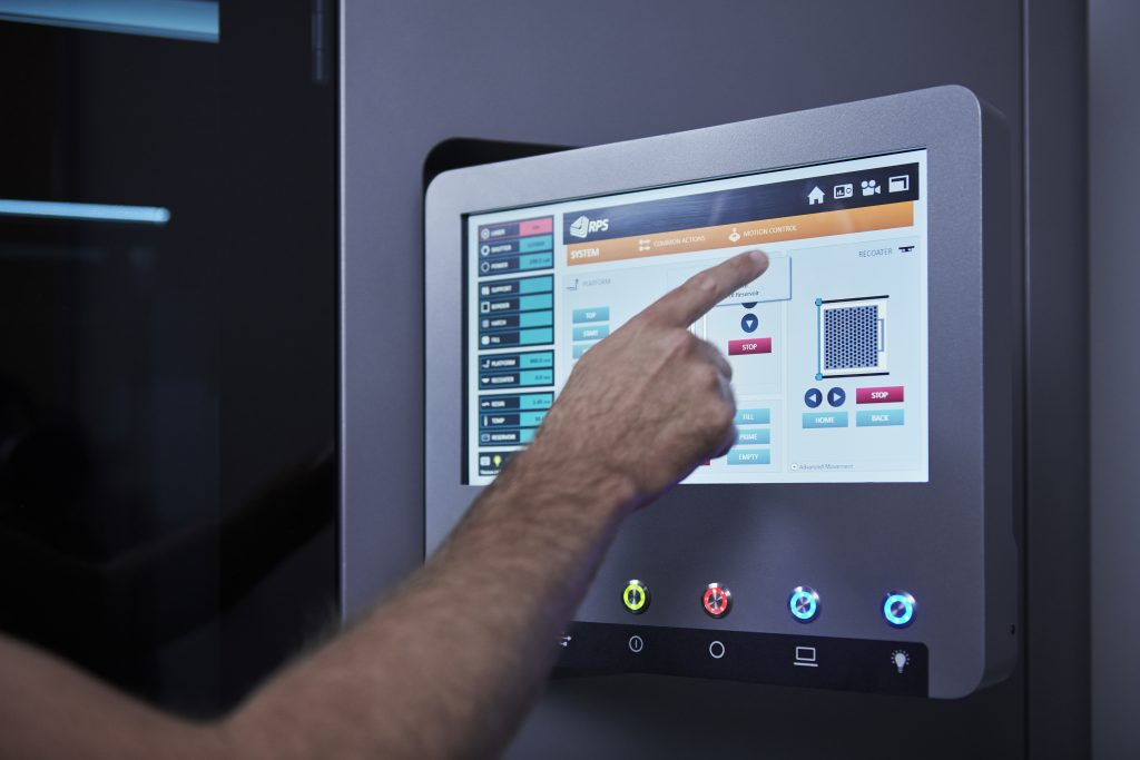 The Titanium control interface of the NEO800 touch screen. Photo via RPS
