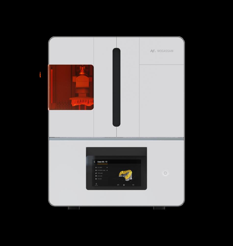 The front of the DentCase 3D printer. Image via Mogassam.