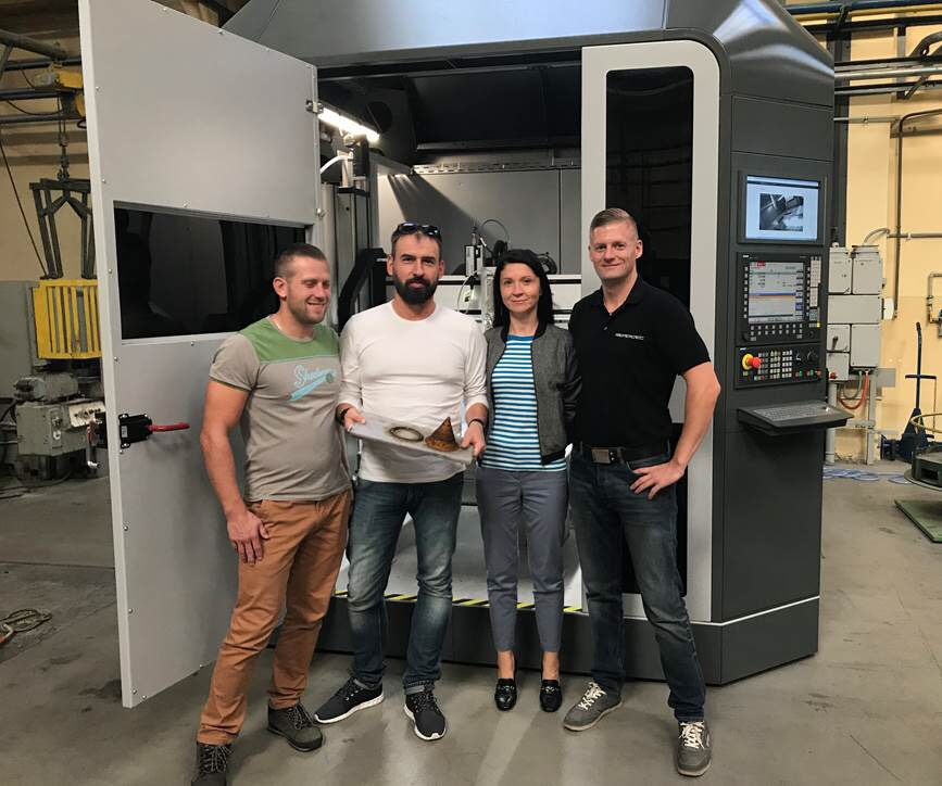 The GEFERTEC Arc403 installed at the IMN facility in Gliwice, Poland. Photo via IMN.
