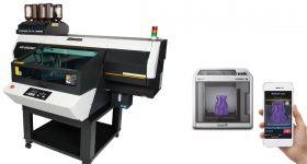 The 3DFF-222 by Mimaki and Sindoh on the right. Image via Hybrid Services.