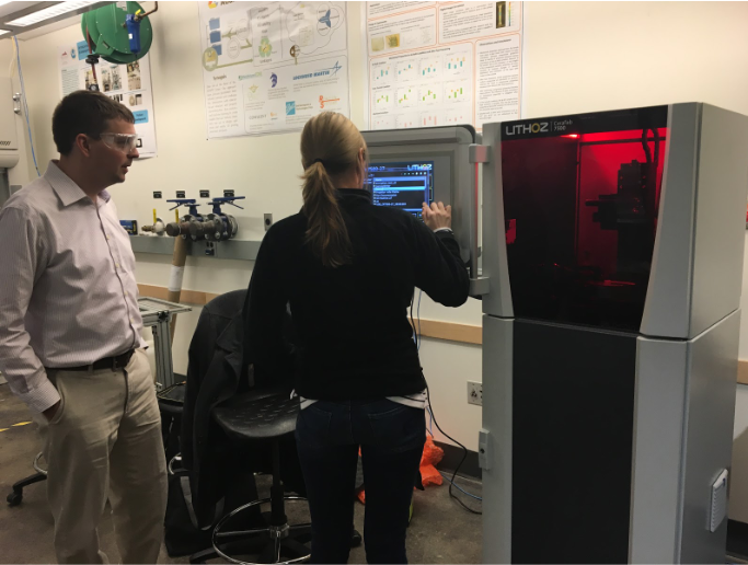 Installation of the Lithoz CeraFab 7500 ceramic 3D printer at the Colorado School of Mines. Photo via ADAPT.