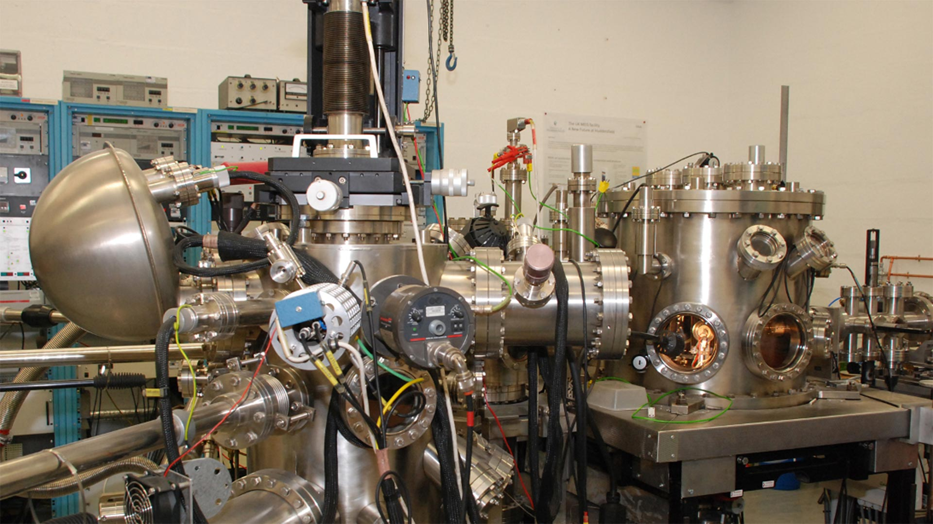 The MEIS accelerator at the Ion Beam Centre. Image via University of Huddersfield.