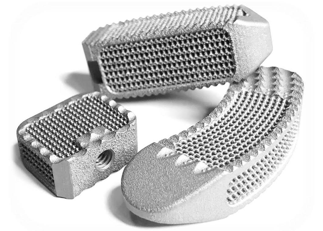 Nexxt Matrixx Vertebral Body Replacement implant 3D printed in titanium. Image via Nexxt Spine.