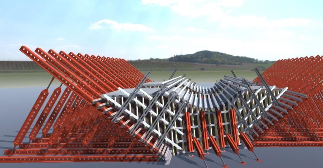 3D visualisation of the Ely Viaduct. Image via RMD Kwikform.