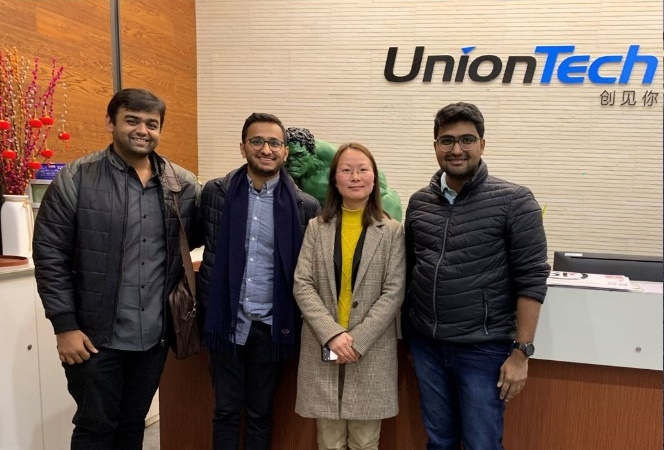 Sahas Softech with UnionTech at TCT Asia 2019. Image via SAHAS Softech.