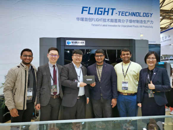 Sahas Softech and Farsoon Technologies at TCT Asia 2019. Image via SAHAS Softech.