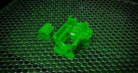 Sample parts 3D printed in MicroFine Green. Photo via Protolabs