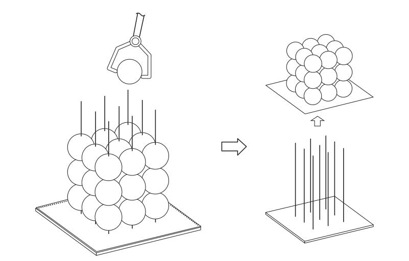 The needle array system to produce MCS. Image via Elsevier.
