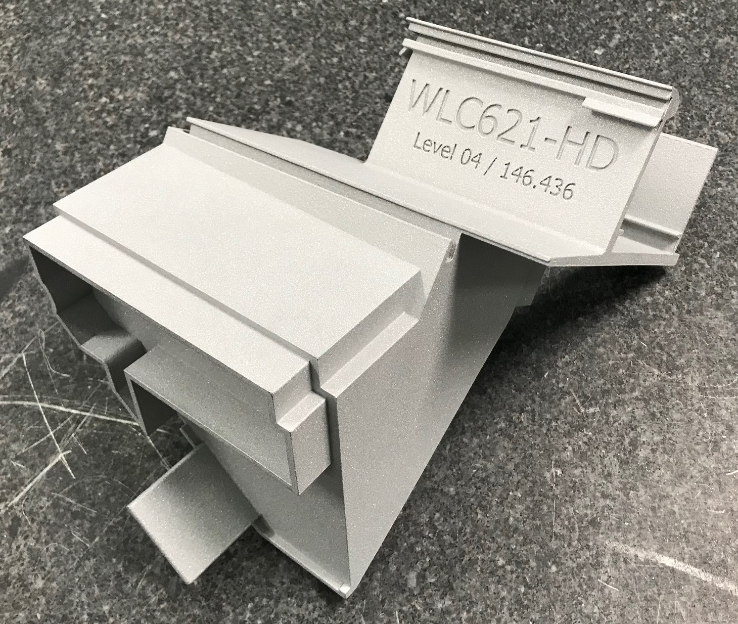 3D printed node for Walters & Wolf cladding. Photo via 3Diligent