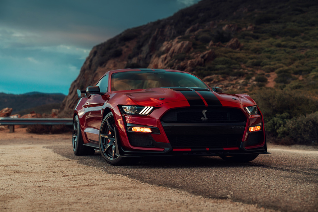 The 2020 Mustang Shelby GT500 released in fall 2019. Photo via Ford.