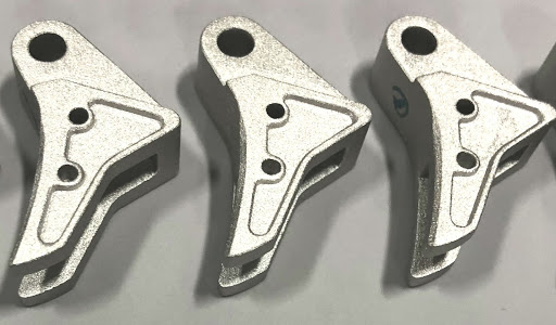 3D printed metal parts. Photo via 3DEO Inc.