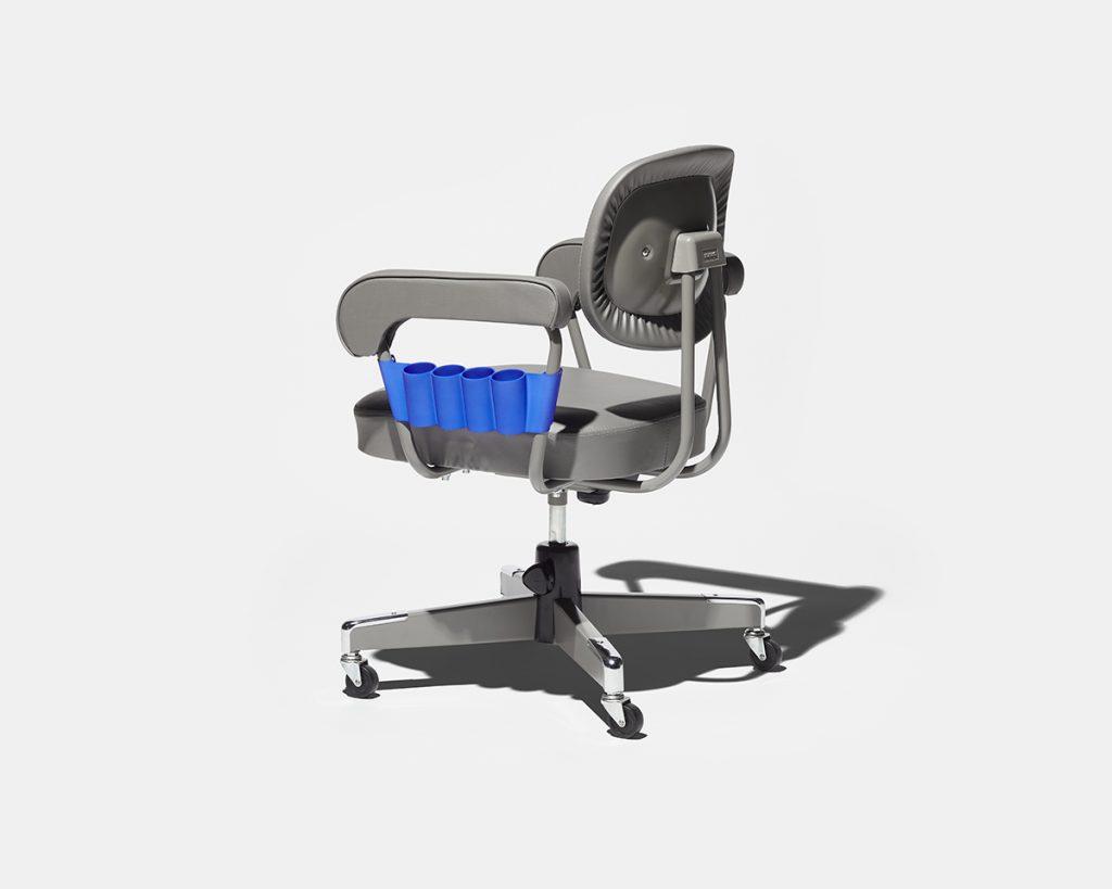 3D printed chair toolbox from the TRANS TOOLS range at THINK OF THINGS. Image via Kabuku & KOKUYO