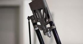 The 3D printed spoiler bracket. Photo via SLM Solutions.