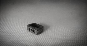 A 3D printed cage implant. Photo via Tangible Solutions.
