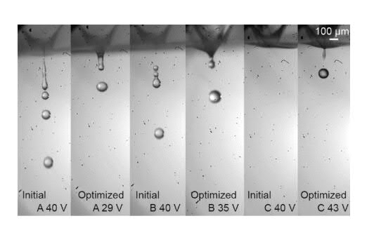 X-ray images of the droplets after optimization. Image via Science Direct.