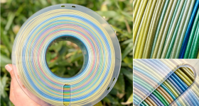 stronghero3D rainbow filament. Photo via Tommy Wu