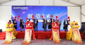 The inauguration of the new production line at the Sartomer plant in China. Photo via Arkema/Twitter.