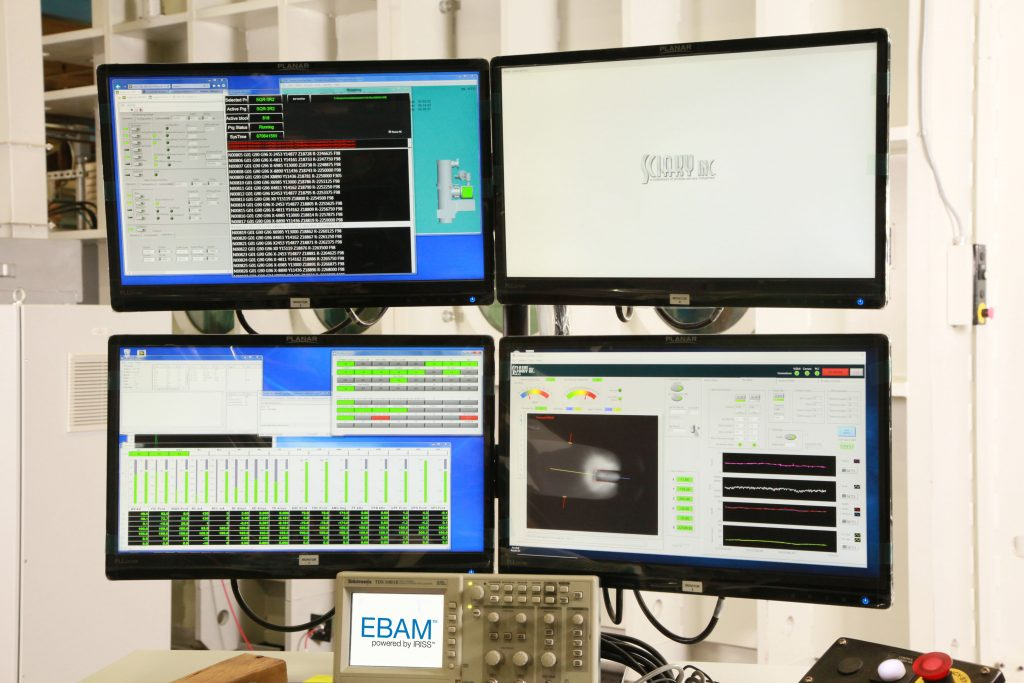 Real-time monitoring data from EBAM's IRISS®Closed-Loop Control system