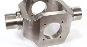 A titanium gimbal made with Sciaky's EBAM®process, which weighs 80 pounds.