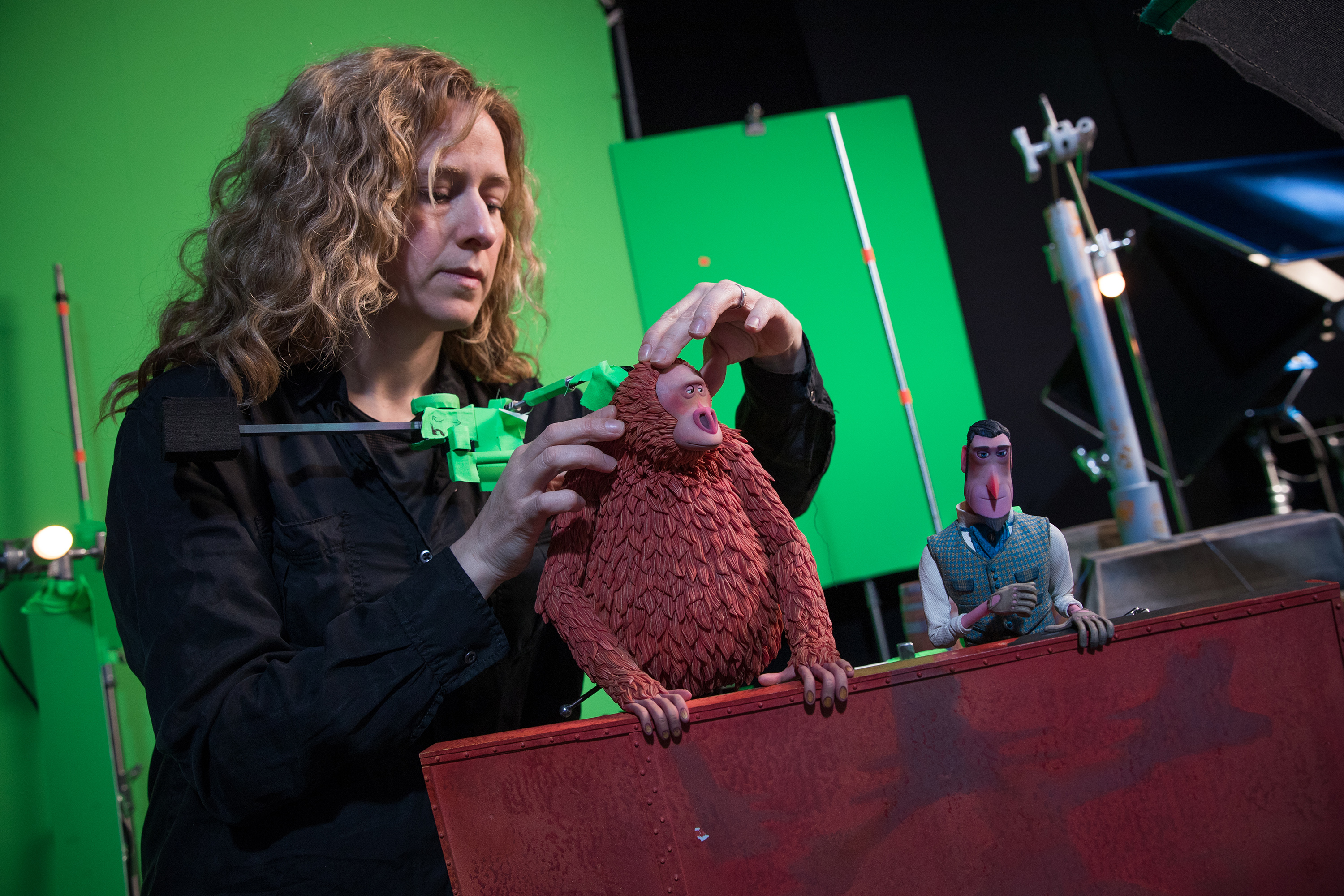 In stop-motion animation physical models are minimally manipulated between frames – 24 make one second of the film. Photo via LAIKA.