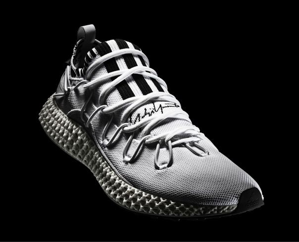 The Y-3 RUNNER 4D shoe, in a bone-white colourway. Image via Y-3/adidas