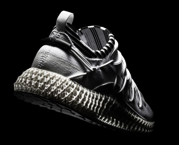 The bone-white Futurecraft 4D midsole of the Y3 RUNNER 4D II. Image via Y-3/adidas
