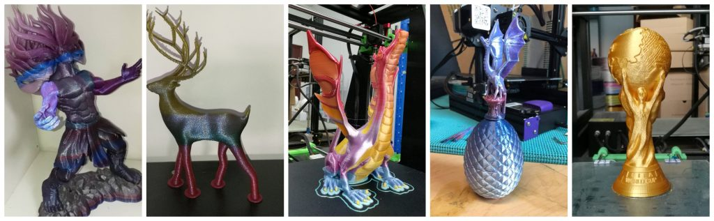 A selection of Stronghero3D rainbow and standard PLA filaments. Photos via Tommy WUA selection of Stronghero3D rainbow and standard PLA filaments. Photos via Tommy WU