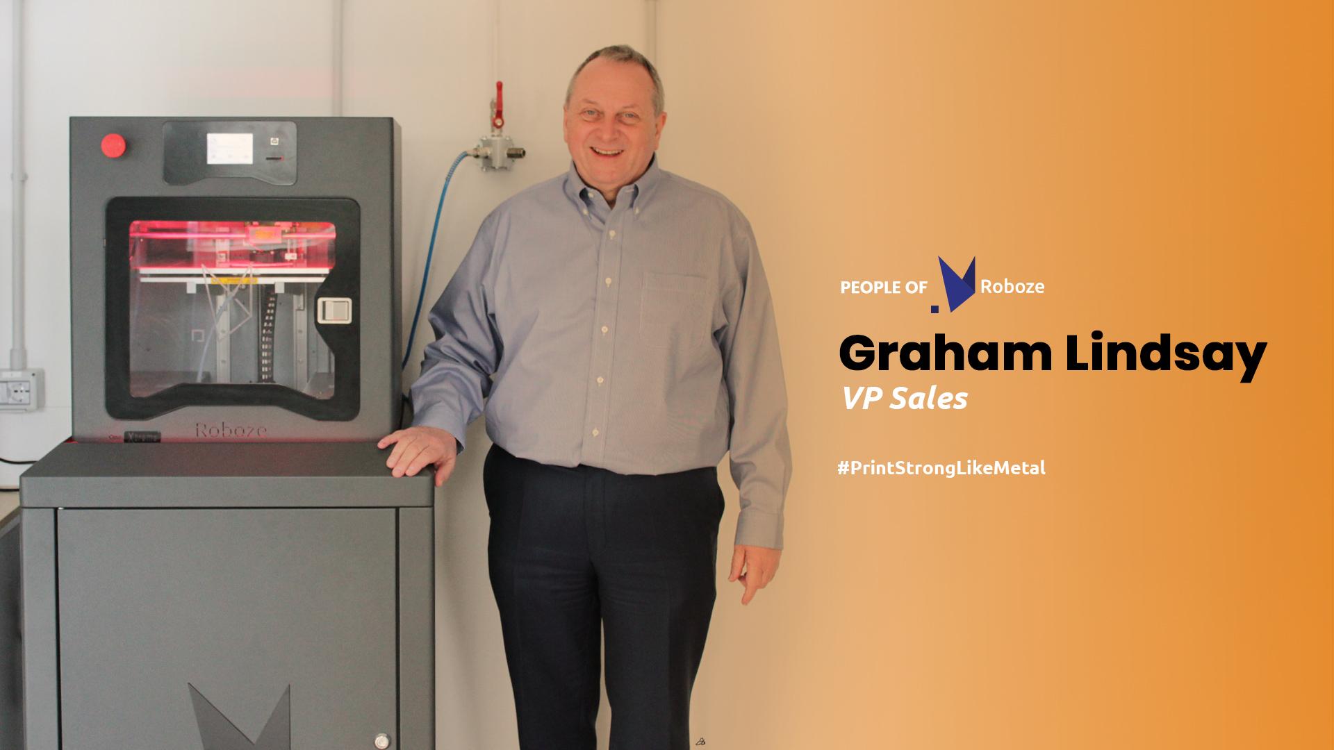 Graham Lindsay, the new Vice President of Sales of Roboze. Image via Roboze.