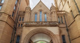 Entrance of University of Manchester. Image via YouTube.